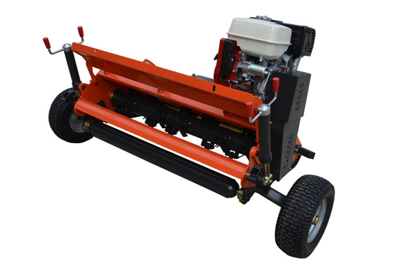 ATV flail mower with open housing