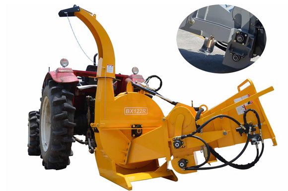 BX122RS Tractor Hydraulic Wood Chipper with duoble arm